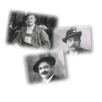 Bild der ersten Vereinsvorstände des Trachtenvereins Garmisch