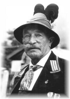 Bild Karl Neff: der erste Hauptmann der wiedergegründeten Gebirgsschützenkompanie Garmisch