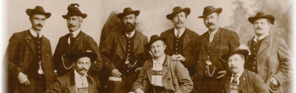 Bild Gründungsvorstand des Volkstrachtenvereins Garmisch